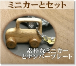 ミニカーとナンバープレートのセット