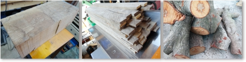 木札の材料持ち込み